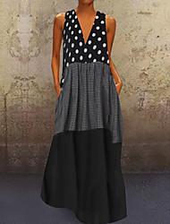 cheap -Women's Shift Dress Dress - Sleeveless Polka Dot Summer Elegant 2020 Black Red Yellow M L XL XXL XXXL XXXXL XXXXXL