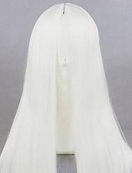 Недорогие -Маскарадные парики Косплей Косплей Прямой Косплей Хэллоуин Ассиметричная стрижка Парик Длинные Белый Искусственные волосы 16 дюймовый Жен. Лучшее качество Удобный Белый