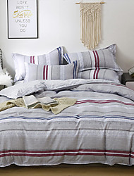 cheap -Strip Duvet Cover Set, Ultra Soft and Easy Care, 4-Piece Duvet Cover Set For Kid's Room