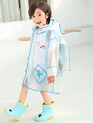 cheap -Children's Raincoat Solid Color Boys School Bag One-piece Poncho Long Walking Pupils Thickening Girls Raincoat Jacket