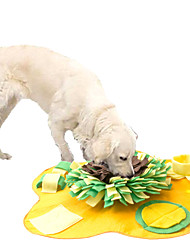 cheap -Feeding Mat Snuffle Mat Dog Cat Pet Toy 1pc Flower Foldable Washable Pet Exercise Encourage Natural Foraging Skills Canvas Gift