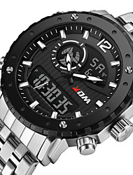 cheap -KADEMAN Men's Sport Watch Quartz Modern Style Stylish Casual Water Resistant / Waterproof Analog - Digital Black / Silver White+Silver Black / Stainless Steel / Calendar / date / day / Noctilucent