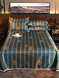 cheap -Summer Mat - Luxury Palace Sheet Sets / 1 Bed Sheet and 2 Pillowcases / Ultra Silky Soft Polyester / Stripe Printed