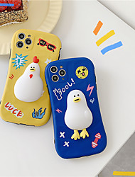 cheap -Korean style cute duck phone case for 7 8 plus x xs xr max se 2020 11 pro fashion cartoon soft silicone shockproof protect cover