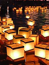 cheap -5pcs Floating Water Square Lantern Paper Lanterns Wishing Lantern Floating for Party Birthday Wedding Decoration No Candle