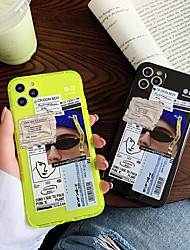 cheap -iPhone11Pro Max High Street Tide Male Label Mobile Phone Case XS Max Fluorescent TPU Suitable For 7 / 8Plus / SE 2020 Protective Case