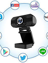 cheap -1080P Full HD Webcam with Microphone USB Web Camera Streaming Computer Camera for Windows PC 120 Degrees Wide-Angle 30fps Large Sensor Superior Low Light for Video Calling Conferencing Gaming