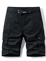 cheap -Men's Hiking Shorts Outdoor Standard Fit Breathable Sweat-wicking Elastane Cotton Shorts Beach Traveling Black Army Green Grey 30 32 34 36 38