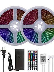 cheap -Bright RGB LED Strip Lights 32.8ft 10M Waterproof RGB Tiktok Lights 1200LEDs SMD 5050 with 44 Keys IR Remote Controller and 100-240V Adapter for Home Bedroom Kitchen TV Back Lights DIY Deco