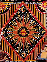 cheap -India Mandala Tapestry Wall Hanging Sun Moon Tarot Wall Tapestry Wall Carpet Psychedelic Tapiz Witchcraft Wall Cloth Tapestries