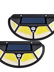 Недорогие -солнечный уличный фонарь 102led четырехсторонний люминесцентный индукционный светильник для тела настенный светильник для наружного освещения двора 2шт