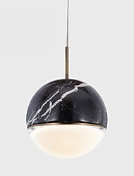 cheap -ZHISHU 11 cm Single Design Pendant Light Metal Marble Globe Painted Finishes Nature Inspired / Nordic Style 110-120V / 220-240V