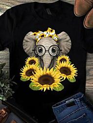 halpa -Naisten Geometrinen T-paita Pyöreä kaula-aukko Päivittäin Kesä Viini Valkoinen Musta Uima-allas Rubiini Keltainen Punastuvan vaaleanpunainen Harmaa S M L XL 2XL 3XL