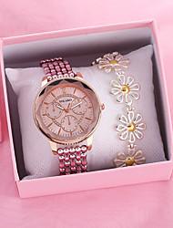 cheap -Women's Quartz Watches Classic Colorful Silver Gold Pink Alloy Quartz Blushing Pink Gold Silver Chronograph Creative New Design 1 set Analog