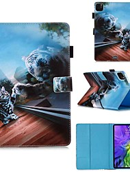 cheap -Case For Apple iPad Pro 11''(2020) / iPad 2019 10.2 / Ipad air3 10.5' 2019 Wallet / Card Holder / with Stand Full Body Cases Mirror Cat PU Leather / TPU for iPad Air / iPad Air2 / iPad (2018)