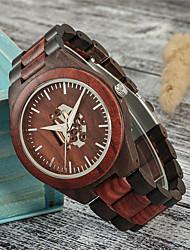 cheap -Men's Dress Watch Quartz Fashion Wooden Day Date Analog Brown / One Year