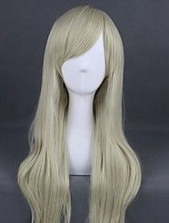 cheap -Cosplay Wig Lolita Curly Cosplay Halloween With Bangs Wig Long Blonde Synthetic Hair 31 inch Women's Anime Cosplay Best Quality Red