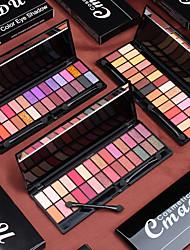 Недорогие -28 цветов блестящие тени для век мерцающие матовые перламутровые тени для век обнаженная палитра теней для век с зеркальной кистью