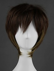 cheap -Cosplay Wig Lolita Straight Cosplay Halloween With Bangs Wig Short Brown Synthetic Hair 14 inch Women's Anime Cosplay Cool Brown