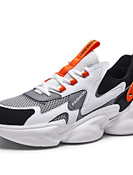 cheap -Men's Loafers & Slip-Ons Sporty Daily Running Shoes Walking Shoes Mesh Non-slipping Black Grey Orange / Black Beige Fall Spring