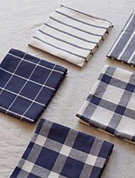 cheap -Placemat Cotton Eco-friendly Classic Striped Tabel cover Table decorations for Daily Desk rectangule 70*50*0.5 cm White 1 pcs