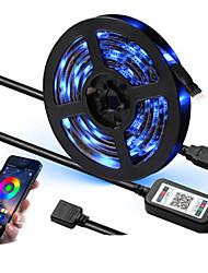 Недорогие -Bluetooth USB светодиодные полосы 5 В гибкий светодиодный свет RGB 1 м 2 м 3 м 4 м 5 м smd 5050 для HDTV ТВ подсветка полосы полосы водонепроницаемый неоновая лампа