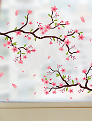 cheap -Frosted Privacy Flowers Pattern Window Film Home Bedroom Bathroom Glass Window Film Stickers Self Adhesive Sticker 58 x 60CM