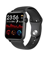 billiga -696 QS19 Unisex Smart Klocka Smart Armband Android iOS Bluetooth Pekskärm Hjärtfrekvensmonitor Blodtrycksmått Sport Termometer Stoppur Tidtagarur Stegräknare Samtalspåminnelse Hitta min enhet