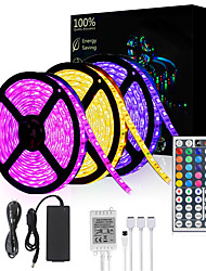 cheap -15M(3x5M) 5050 900 LEDs 10mm RGB Waterproof with 44Keys IR Remote Controller Flexible LED Strip Light