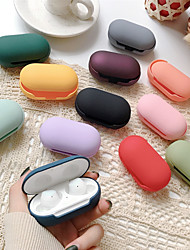 cheap -Case For Samsung Galaxy Buds Headphone Case Solid Color Hard PC Earphone Cover