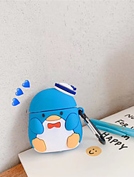 cheap -3D Penguin Cartoon Earphone Case for Airpods 2 Case Silicone Cute Cover For Apple Air Pods 1 Case Waterproof Protective Box