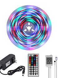 Недорогие -Mashang яркие RGBW светодиодные полосы света 5 м водонепроницаемый RGBW TIKTOC фары 1170 светодиодов SMD 2835 с 44 клавишами ик-пульта дистанционного управления и 100-240 В адаптер для домашней