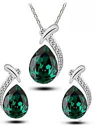cheap -Women's Cubic Zirconia Jewelry Set Drop Stylish Classic Earrings Jewelry White / Blue / Purple For Festival