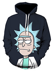 cheap -Inspired by Rick and Morty Cosplay Costume Hoodie Terylene Print Printing Hoodie For Men's / Women's