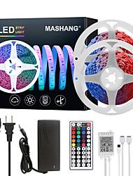 Недорогие -Mashang светодиодные ленты 32.8ft 10m RGB TIKTOCK 300LEDS SMD 5050 с 44 клавишами ик-пульта дистанционного управления и адаптером 100-240 В для домашней спальни кухня ТВ-подсветка DIY деко