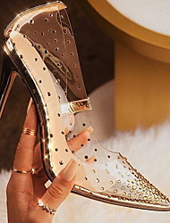 cheap -Women's Heels Stiletto Heel Pointed Toe Daily PU Summer Gold