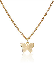 cheap -Women's Choker Necklace Necklace Butterfly Dainty Artistic Basic Trendy Copper Gold Silver 40 cm Necklace Jewelry For Prom Street Birthday Party Beach Festival