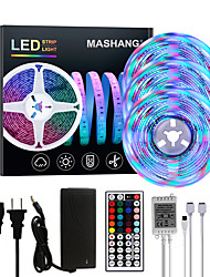 cheap -Bright RGBW LED Strip Lights 15M(3x5M) RGBW Tiktok Lights 3510LEDs SMD 2835 with 44 Keys IR Remote Controller and 100-240V Adapter for Home Bedroom Kitchen TV Back Lights DIY Deco