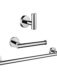 cheap -Bathroom Accessory Set / Towel Bar / Toilet Paper Holder New Design / Adorable / Creative Contemporary / Modern Stainless Steel / Low-carbon Steel / Metal 3pcs - Bathroom Wall Mounted
