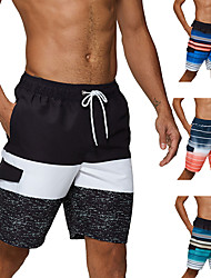 cheap -Men's Swim Shorts Swim Trunks Board Shorts Breathable Quick Dry Drawstring - Swimming Diving Surfing Patchwork Autumn / Fall Spring Summer / Beach