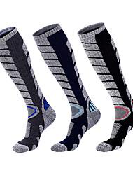 cheap -R-BAO Hiking Socks Socks 1 Pair Breathable Warm Sweat-wicking Comfortable Chinlon Elastane Autumn / Fall Spring Winter for Men's Ski / Snowboard Fishing Climbing Black Grey Dark Blue / Cotton