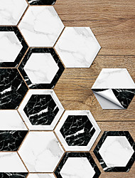 cheap -Black And White Marble Floor Paste Bathroom Waterproof Wear-resistant Non-slip Paste Living Room Kitchen Self-adhesive Wall Paste
