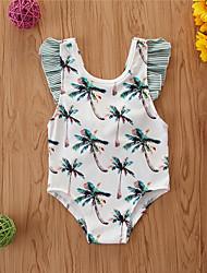 cheap -Toddler Newborn Infant Girls' Basic Print Short Sleeves Swimwear Green