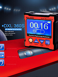 Недорогие -DXL360S Профессиональный двухосевой цифровой индикатор уровня дисплея Двухосевой цифровой угловой транспортир с 5-сторонним магнитным основанием