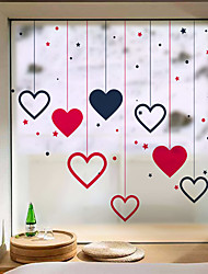 cheap -Frosted Privacy Love Pattern Window Film Home Bedroom Bathroom Glass Window Film Stickers Self Adhesive Sticker 58 x 60CM