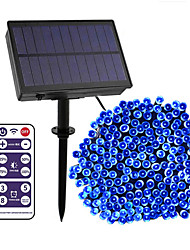 cheap -12-key Remote Control  100m String Lights 800 LEDs High Power LED 8 Mode Control  Dimming  Time Setting  Warm White White Blue Waterproof Outdoor Solar 12 V 1Set