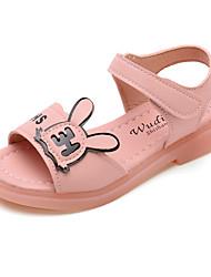 halpa -Tyttöjen Comfort PU Sandaalit Pikkulapset (4-7 vuotta) / Suuret lapset (7 vuotta +) Valkoinen / Purppura / Pinkki Kesä
