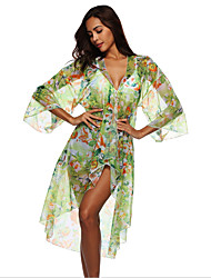 cheap -Women's Swimsuit Floral Normal Swimwear Bathing Suits Green