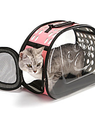 cheap -Dog Rabbits Cat Cages Travel Carrier Bag Waterproof Camping & Hiking Travel Footprint / Paw Lolita Fashion Plastic Black Blue Pink