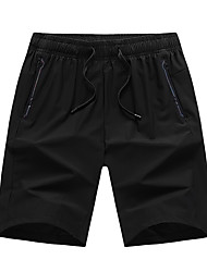 """cheap -Men's Hiking Shorts Solid Color Summer Outdoor 10"""" Loose Breathable Quick Dry Sweat-wicking Comfortable Cotton Shorts Bottoms Black Hunting Fishing Climbing XL XXL XXXL 4XL 5XL - DZRZVD®"""